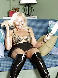 Granny stockings, Mature stockings, Granny stocking, Grannies, Mature flashing, Granny