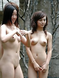 Posing, Asian hairy, Hairy teens, Teen hairy, Outside