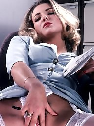 Hairy stockings, Secretary, Stockings hairy
