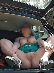 Mature upskirt, German