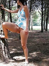 Cougar, Park, Milf flashing, Cougars