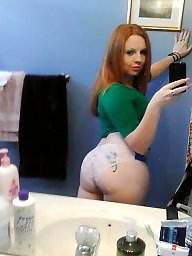 Amateur redhead, Thick ass, Thick