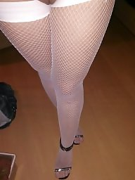 Lady, Stockings, White stockings, Blonde, Stocking, White