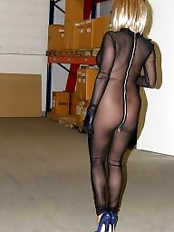 Bodystocking, Lady, Bodystockings, Mature stocking, Lady ewa, Blond mature