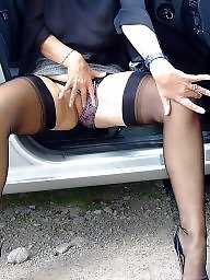 Mature stockings, Mature upskirt