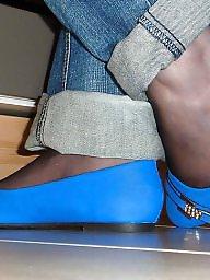 Teens nylons, Teens nylon, Teens flats, Teens blue, Teen, nylon, Teen nylons