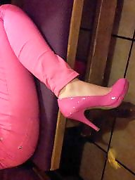 Pink, Heels, Lack, Shoes, Shiny, Teen heels
