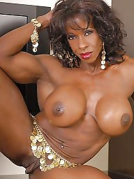 Muscle, Ebony boobs, Muscled, Muscles, Queen