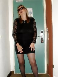 Clothed, Stocking fuck, Seethrough, Stocking milf
