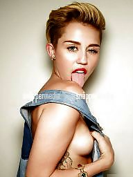 Celebrities, Topless, Nipples, Nipple, Miley cyrus