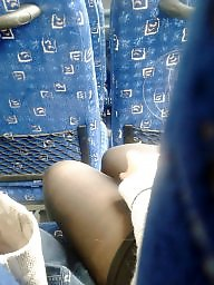 Public stockings, Leg, Leggings, Bus