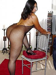Latina milf, Fishnet