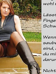 Femdom captions, German caption, German captions, German, Teen captions, Captions