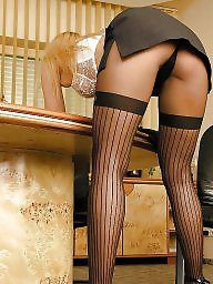 Stockings office, Stocking office, Shirley, Office,, Office blond, Office babes