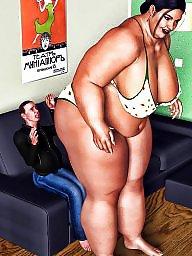 Femdom cartoon, Bbw cartoon, Bbw femdom