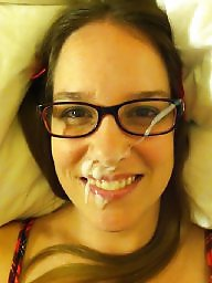 Amateur facial, Cum facial, Glasses, Facials, Cum on, Facial cum