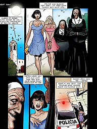 Comics, Comics cartoon, Bdsm cartoons, Bdsm comic, Nuns, Bdsm cartoon