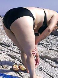 Beach voyeur, Aunt, My aunt, Beach ass, Ass beach