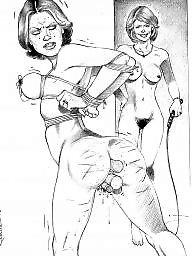 Rebecca more, Rebecca, Suburban, Lesbians bdsm, Lesbians cartoon, Lesbian cartoons