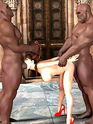 Interracial cartoon, Cartoons, Cartoon, Cock, Huge, Group