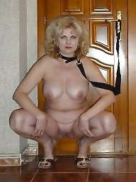 Squat, Squatting, Russian milf, Russian mature