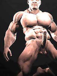Muscle, Man, Muscles, Cartoon
