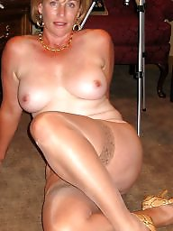 Mature stockings, Cougar