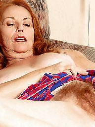 Redhead hairy, Granny hairy, Mature pussy, Grannies, Hairy redhead, Spread