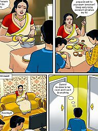 Milf cartoon, Aunty