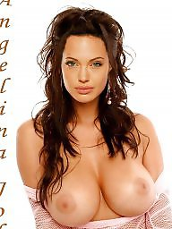 Celebrity fakes, Fake boobs, Angelina jolie, Fake tits, Celeb fakes