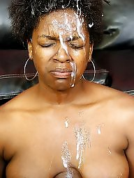 Facial, Facials, Ebony, Interracial