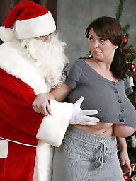 Christmas, Curvy milf, Big tit, Curvy, Big natural, Mature tits