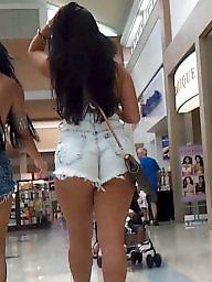 Candid ass, Latina ass, Short shorts, Short, Shorts, Candid voyeur