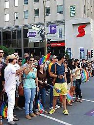 T gay, Parading, Paraded, Parade, Montreal, Gay bdsm