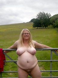 Public bbw, Bbw flashing, Fat, Fat bbw, Saggy bbw, Outside