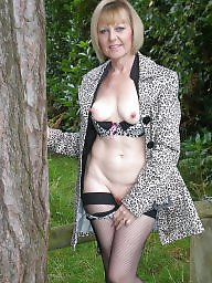 Lady b, British mature, British, Mature british, Blond mature, Mature stocking