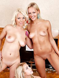 Tits group, Three tit, Three girls, Naked tits, Naked group, Naked blonde