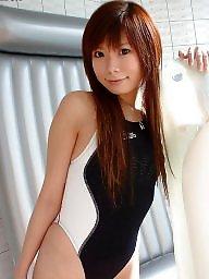 Swimsuit, Asian teen, Asian