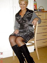 sluts Amateur mature nylon stocking