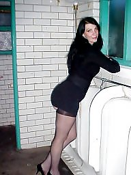 Public milf, Public stockings, Toilet, Stocking milf, Milf public, Public slut