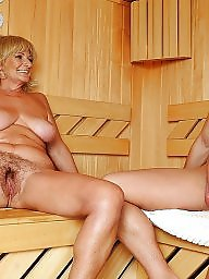 Sauna, Young amateur, Old young, Young girls