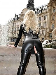 Leather, Fetish, Blonde ass, Black ass