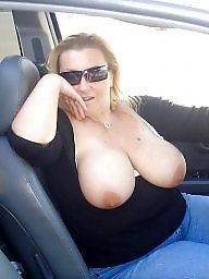 Public, Car, Big tits