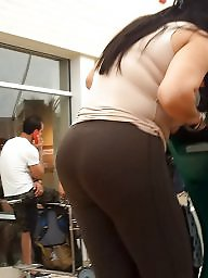 Voyeur thong, Latina ass, Thong, Thick latina, Milf thong, Latina milf