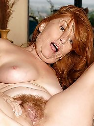 Mature redhead, Hairy spreading, Granny spreading, Mature spreading, Granny pussy, Spreading