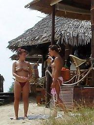 Public tits, Beach