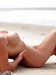 Beach mature, Mature beach, Blond mature