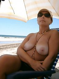Amateur mature, Beach, Mature