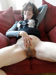 Upskirt, Hairy mature, Hairy