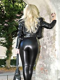 Leather, Fetish, Bitch, Blonde ass, Black ass